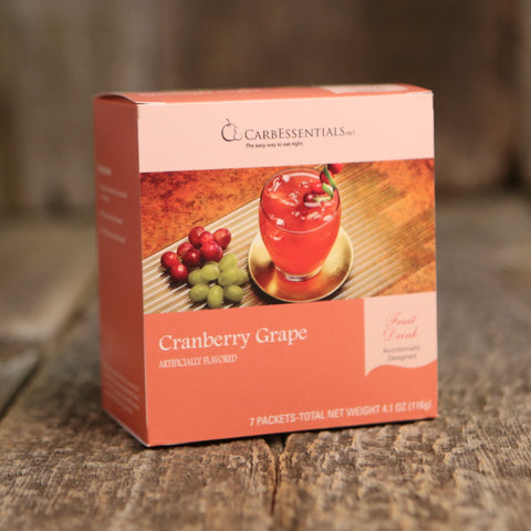 CarbEssentials Fruit Drink Cranberry Grape  - 1