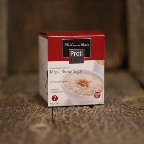 ProtiDiet Oatmeal 7 Packet Box / Maple Brown Sugar  - 2