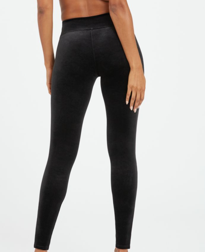 Spanx Velvet Leggings - Black