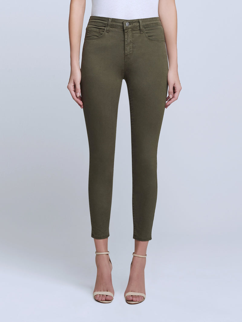 L'agence Margot High Rise Skinny - Olive Night