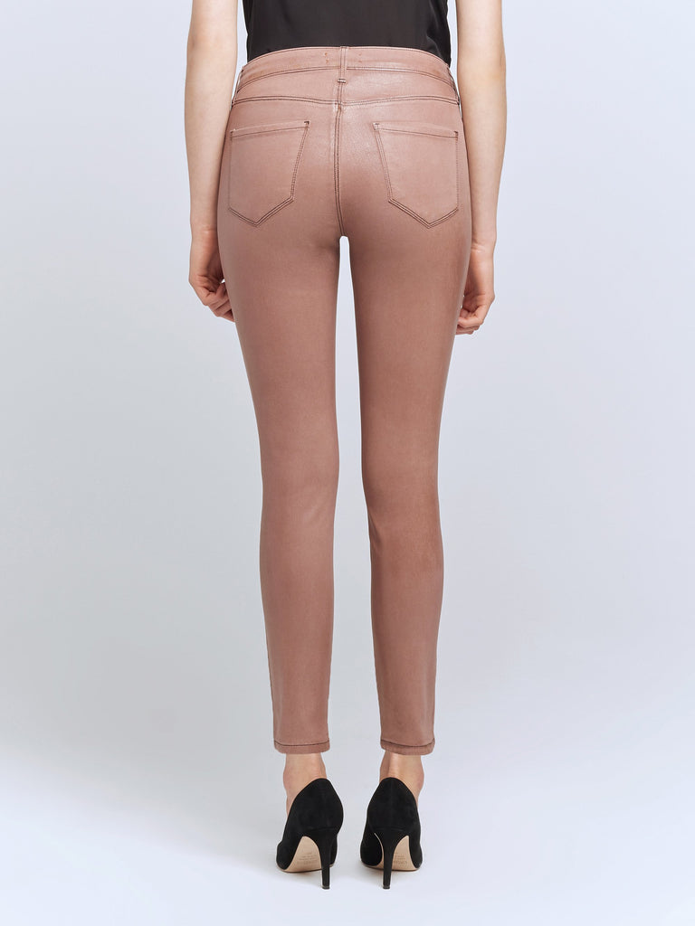 L'agence Margot High Rise Skinny - Sparrow Contrast Coated