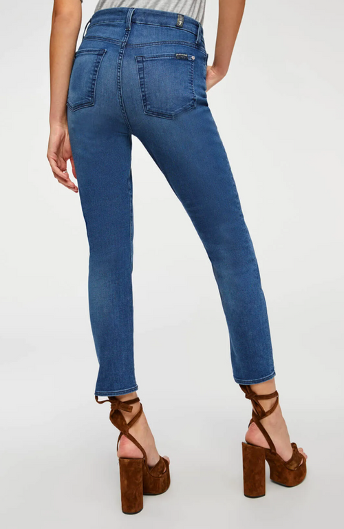 7 For All Mankind High Waist Ankle Skinny - Peace Blue