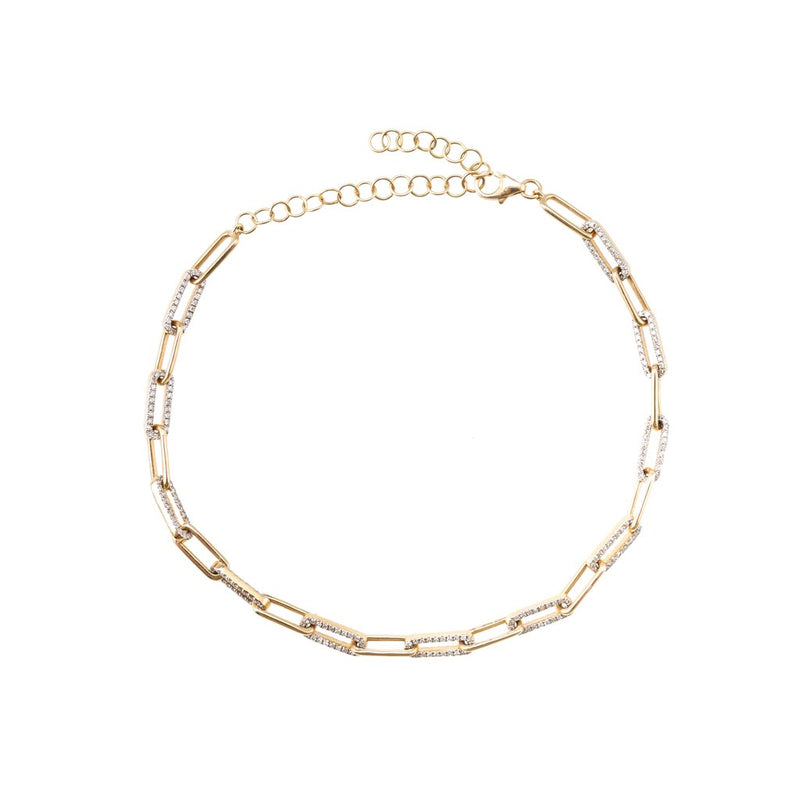 Zofia Day Thin Link Diamond Chain Link Bracelet