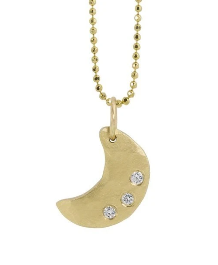 Julez Bryant Alem Small 14k Gold Moon