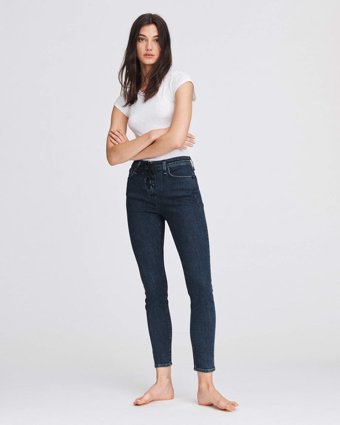Rag & Bone Nina High Rise Ankle Skinny - Night