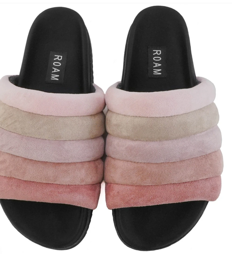 Roam Suede Slide - Rose