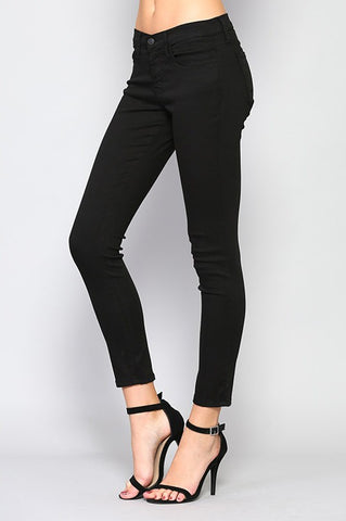 Flying Monkey Y14698 Black Super Soft Skinny Jeans