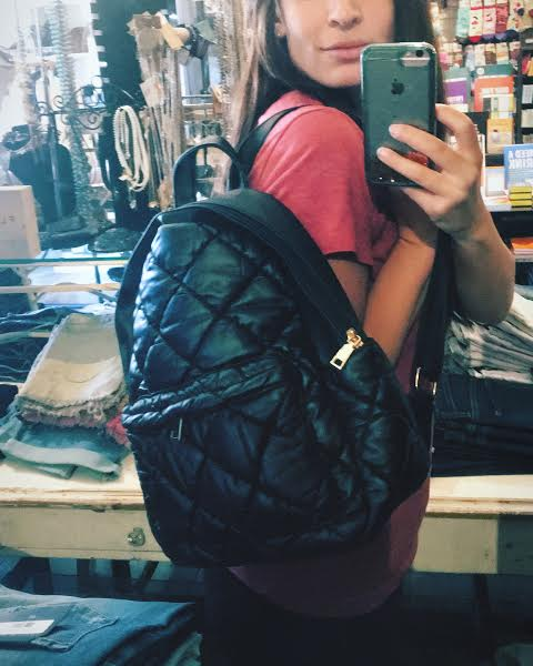 Quilted fashion backpack
