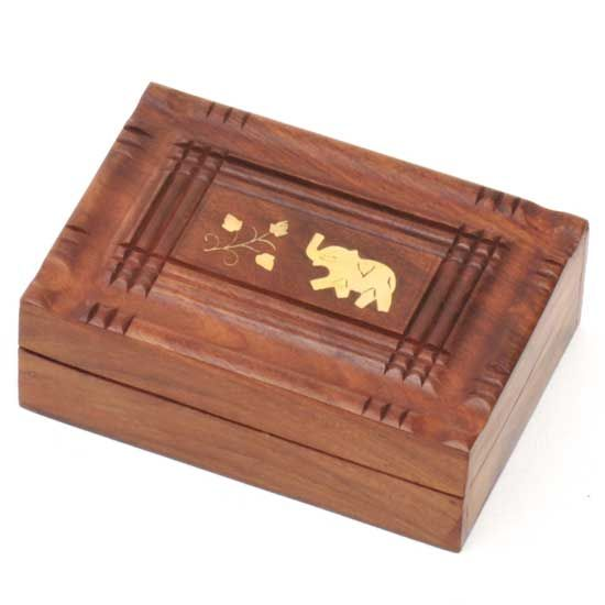 "Sheesham wood box  7""x5"" hinged"