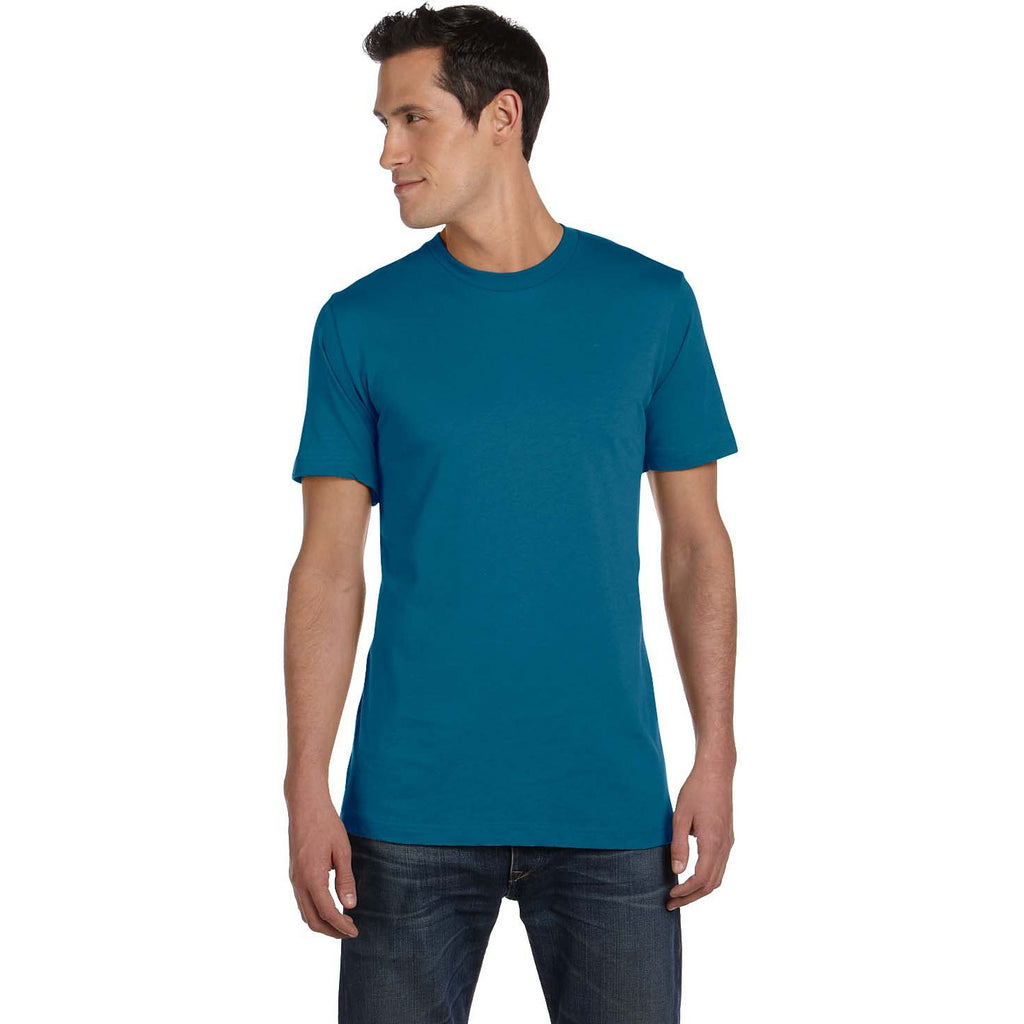 Deep Teal Jersey Crewneck T-Shirt - Anonymous L.A.