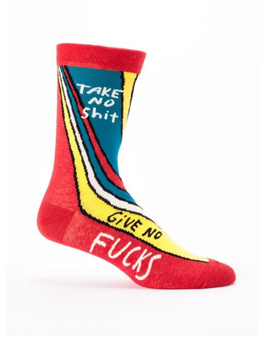 Take No Shit, Give No Fucks M-Crew Socks