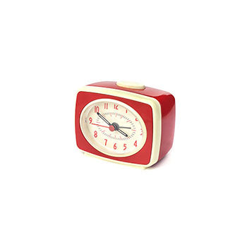 Small Classic Alarm Clock Red