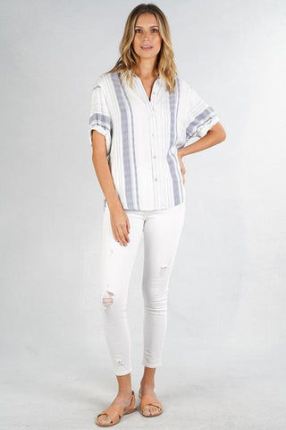Riya Striped Buttondown
