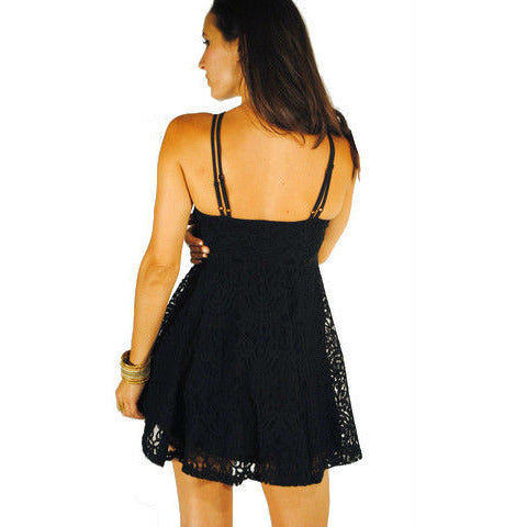 Monoreno Black Lace Dress - Anonymous L.A. - 3