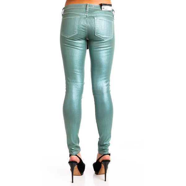 Flying Monkey L7436 Sea Green Metallic Skinny Jeans - Anonymous L.A. - 5