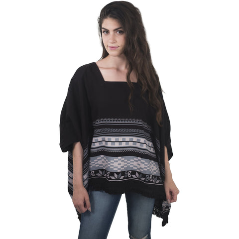 Navajo Border Printed Kimono (Black) - Anonymous L.A. - 1
