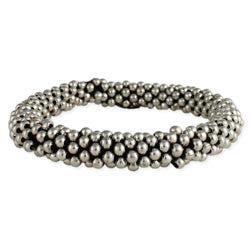 Silver Balls Stretch Bracelet & Hair Holder