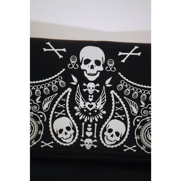 Bandana Skull Fold-Over Clutch - Anonymous L.A. - 2