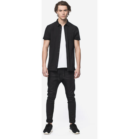 Black Slim Taper Fit Jogger Jeans - Anonymous L.A. - 1