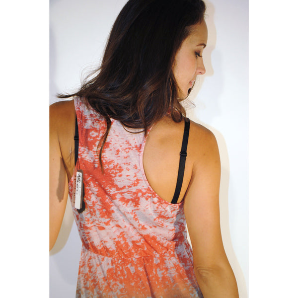 Cinched Fade Away Orange Tank Top - Anonymous L.A. - 3