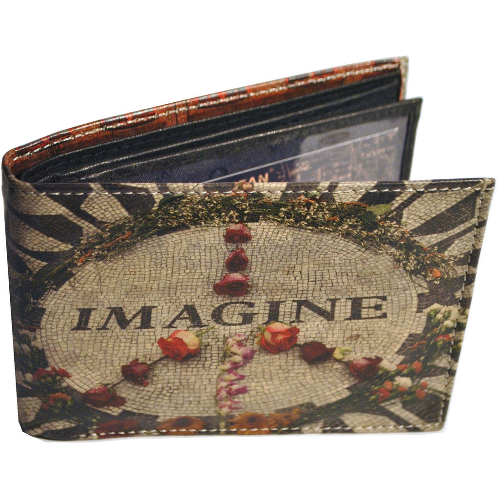 NYC Brick Building + Imagine Mosaic Wallet - Anonymous L.A. - 1