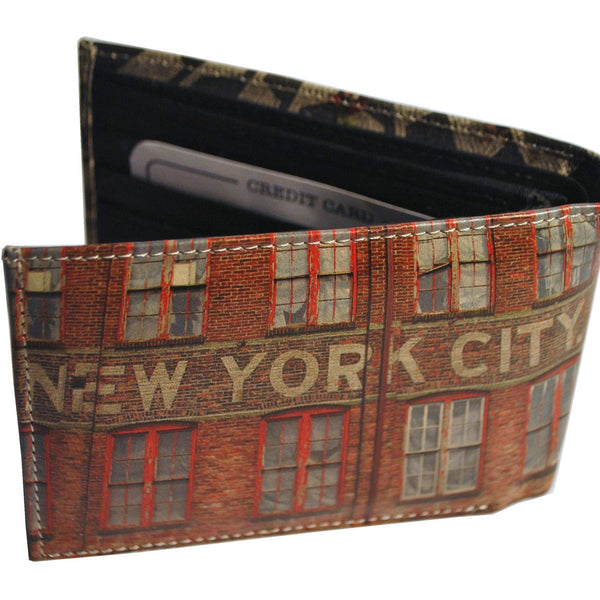 NYC Brick Building + Imagine Mosaic Wallet - Anonymous L.A. - 2