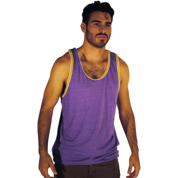Purple Double Ringer Tank - Anonymous L.A. - 1