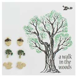 Set of 3 Forest Post Earrings