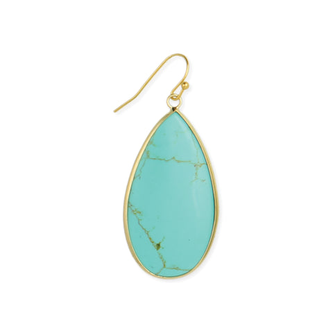 Southwest Skies Turquoise Teardrop Earrings