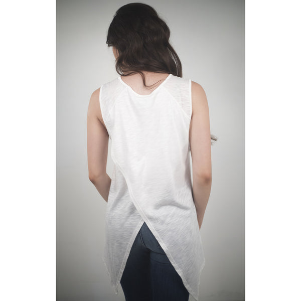 Cotton / Modal Top W/Asymetrical Back - Anonymous L.A. - 3