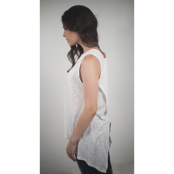 Cotton / Modal Top W/Asymetrical Back - Anonymous L.A. - 4