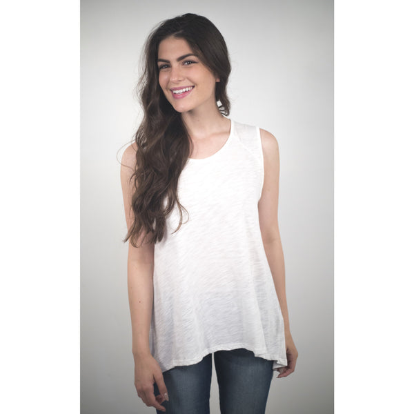 Cotton / Modal Top W/Asymetrical Back - Anonymous L.A. - 5