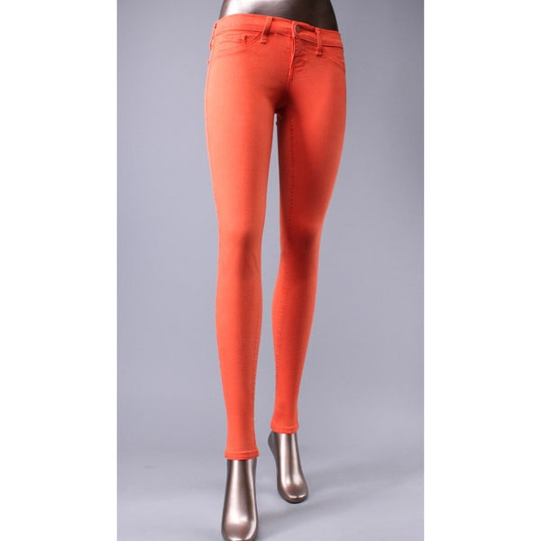 Klique B Soft Stretch Denim Orange Skinny Jeans - Anonymous L.A. - 1
