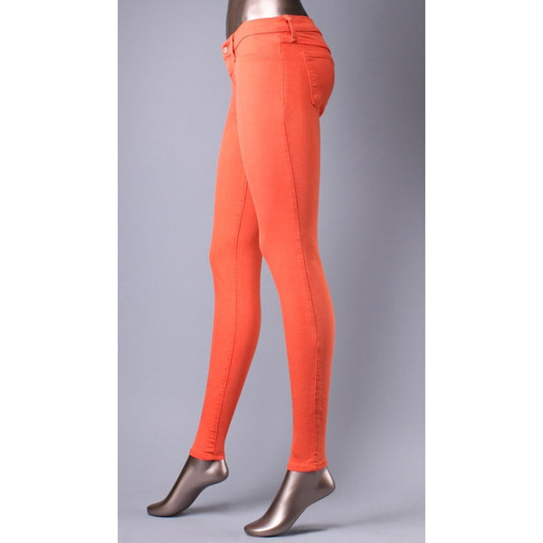 Klique B Soft Stretch Denim Orange Skinny Jeans - Anonymous L.A. - 4