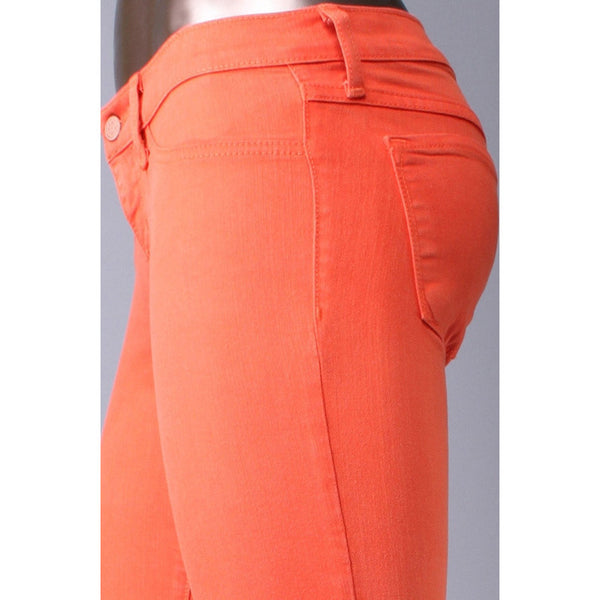 Klique B Soft Stretch Denim Orange Skinny Jeans - Anonymous L.A. - 3