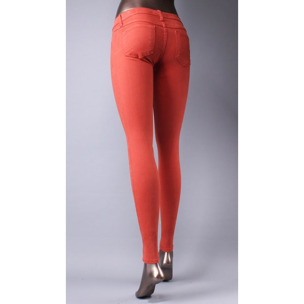 Klique B Soft Stretch Denim Orange Skinny Jeans - Anonymous L.A. - 2