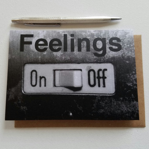 Feelings Off Greeting Card - Anonymous L.A.