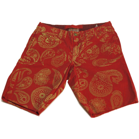 Red and Green Paisley Shorts - Anonymous L.A.