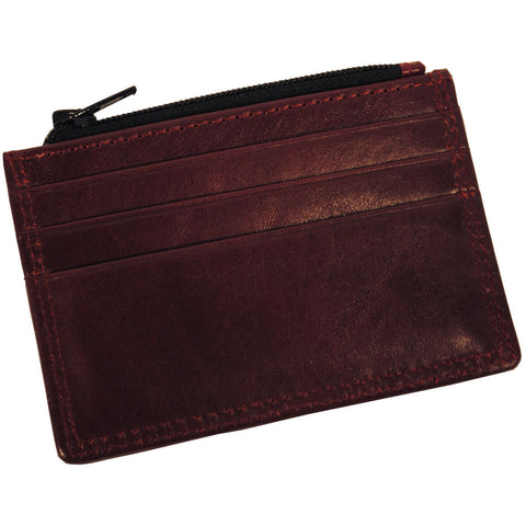Hemlock Leather Corinthian Red Wallet - Anonymous L.A.