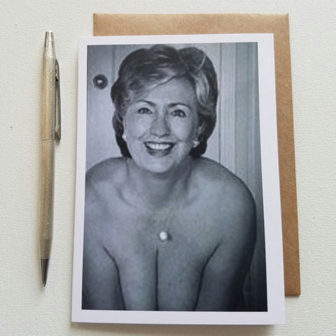 Hillary Nude Greeting Card - Anonymous L.A.