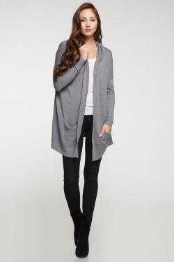 Hooded Open Cardigan Sweater