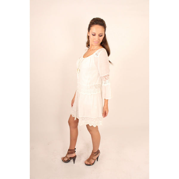 Monoreno Mint Peasant Lace Dress - Anonymous L.A. - 5