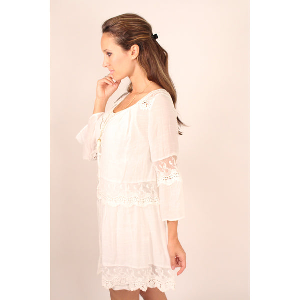 Monoreno Mint Peasant Lace Dress - Anonymous L.A. - 6