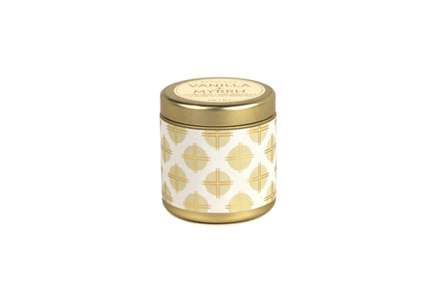 Vanilla + Myrrh 3oz Travel Candle