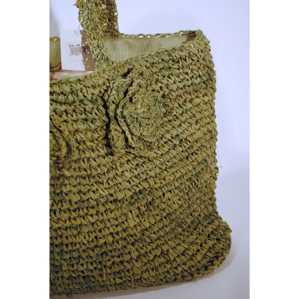 Olive Loose Straw Tote - Anonymous L.A. - 2