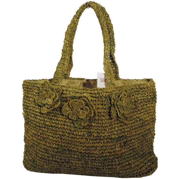 Olive Loose Straw Tote - Anonymous L.A. - 1