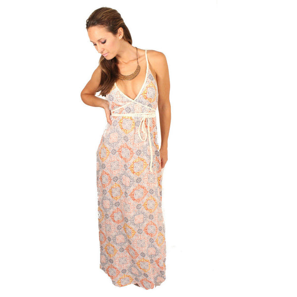Lovestitch V-Neck Tie Waisted Maxi - Anonymous L.A. - 1