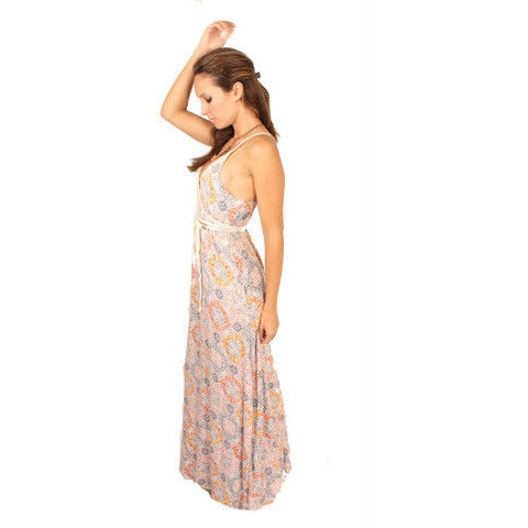 Lovestitch V-Neck Tie Waisted Maxi - Anonymous L.A. - 2