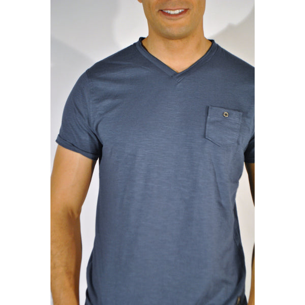 Double Seam V-Neck W/Pocket - Anonymous L.A. - 4