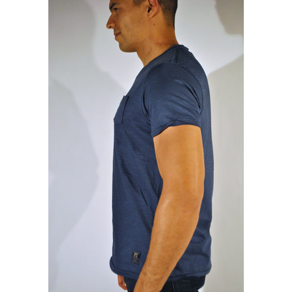 Double Seam V-Neck W/Pocket - Anonymous L.A. - 5